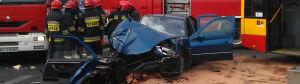 Wypadek na Ostrobramskiej: [br]Samochód wpadł w autobus