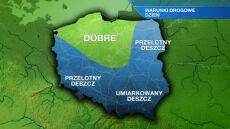 Drogi śliskie w prawie całej Polsce. Na południu wiatr do 80 km/h