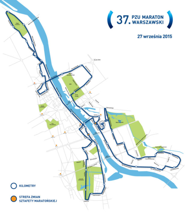 Trasa 37. Maratonu Warszawskiego  mat. organizatora