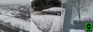 Zamiast wiosny miejscami była zima. Śnieżny śmigus-dyngus na Waszych zdjęciach