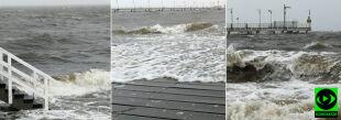 Sztorm na Bałtyku i silny wiatr. Wasze relacje z północy Polski