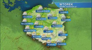 Prognoza pogody na wtorek 19.05