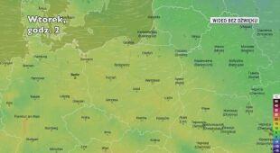 Prognozowana temperatura w najbliższych dniach (Ventusky.com | wideo bez dźwięku))
