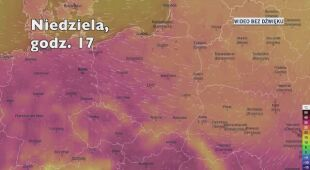 Temperatura w ciągu kolejnych pięciu dni (Ventusky.com | wideo bez dźwięku)