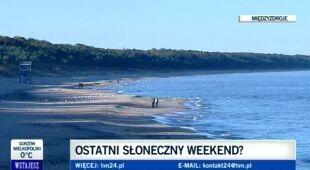 Ostatni pogodny weekend? TVN24 sprawdza pogodę w Międzyzdrojach (TVN24)
